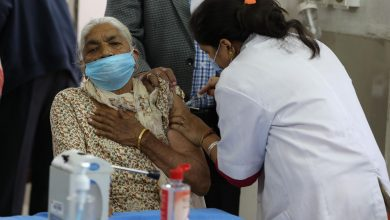 Photo of 10 crore doses administered