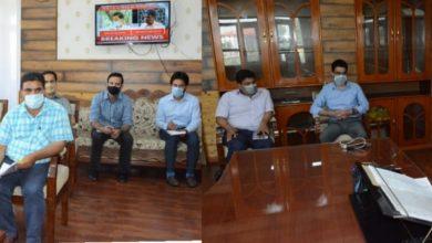 Photo of Advisor Baseer Khan chairs meeting of Tourism Dept