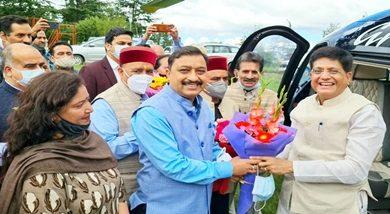 Photo of Union Minister Piyush Goyal reaches Shimla on 3-day visit to Himachal Pradesh